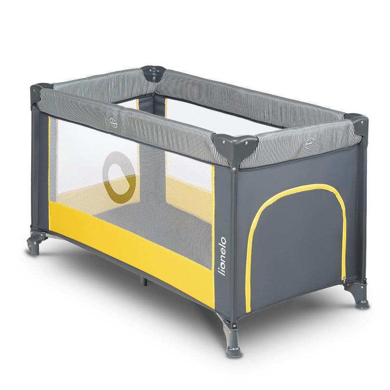 Prenosni krevetac Stefi sivo žuti