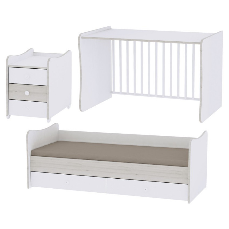 Krevet 5u1 white artwood