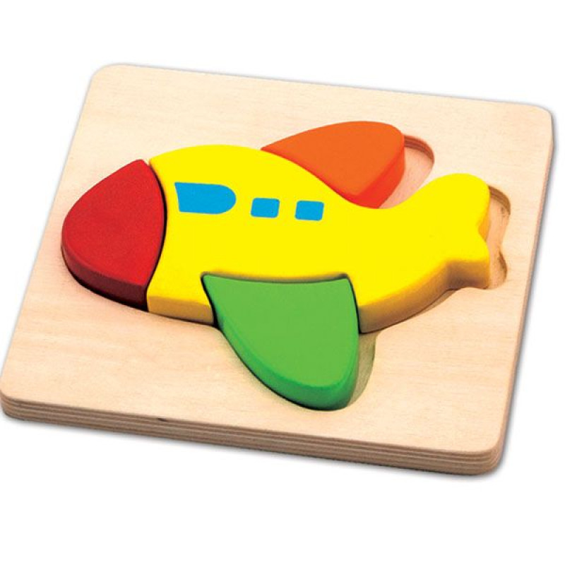Drvena puzzla Avion